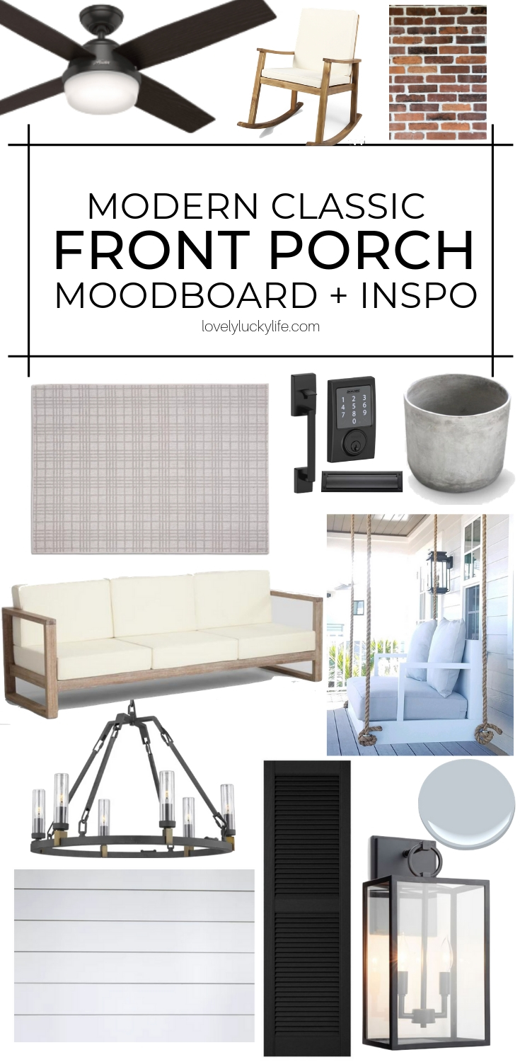 front porch moodboard and sources