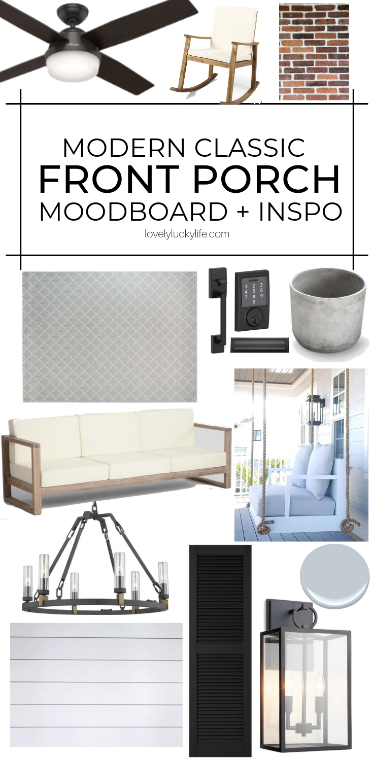 love this moodboard for front porch ideas to improve curb appeal