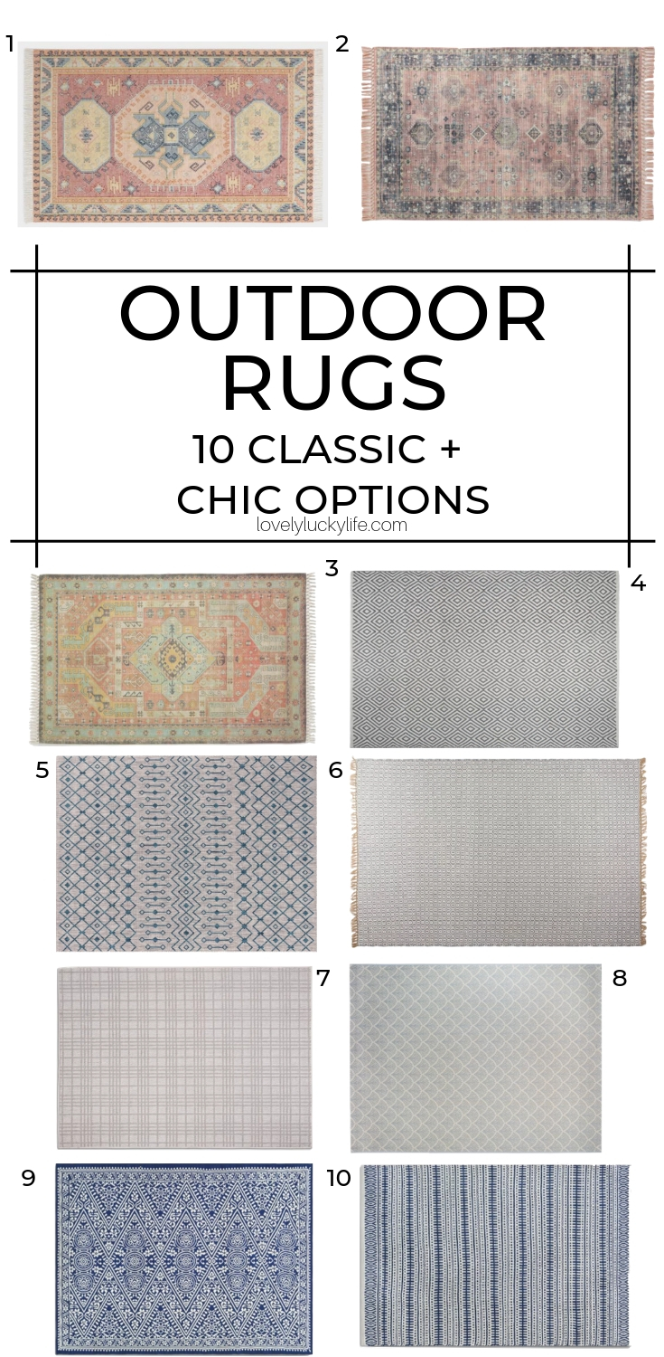10 classic and cool options for an outdoor rug