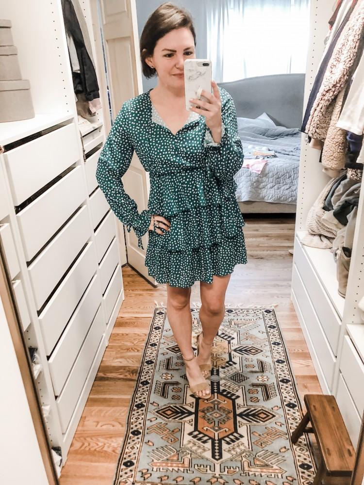 tiered ruffle polka dot dress from amazon