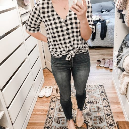 v neck gingham plaid top from abercrombie copy