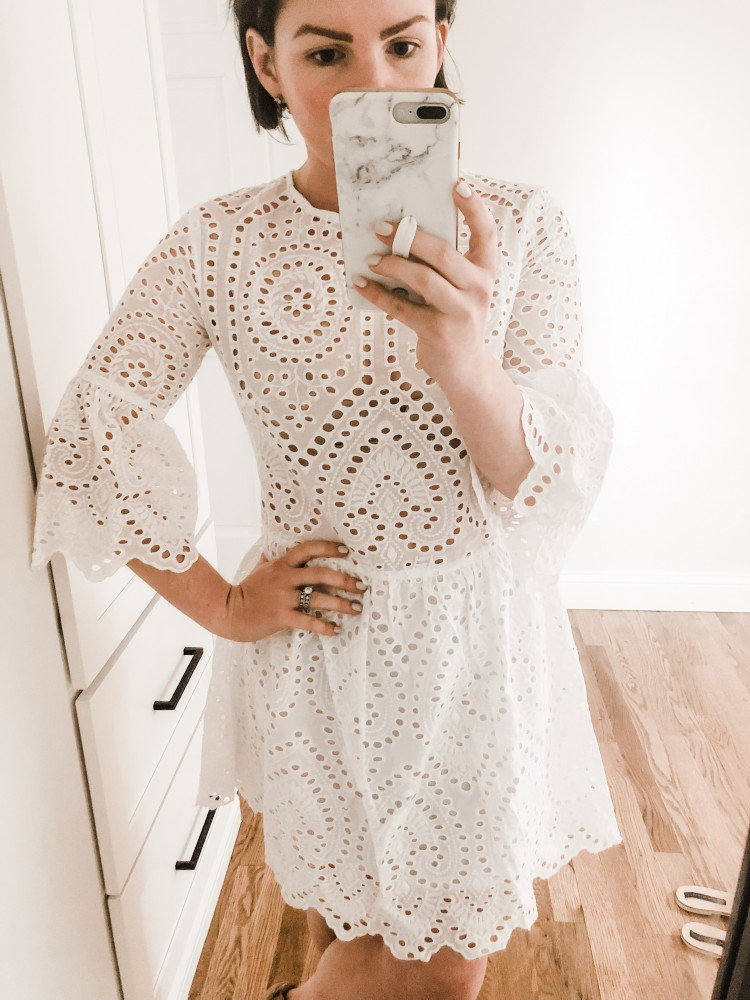 eyelet amazon dress