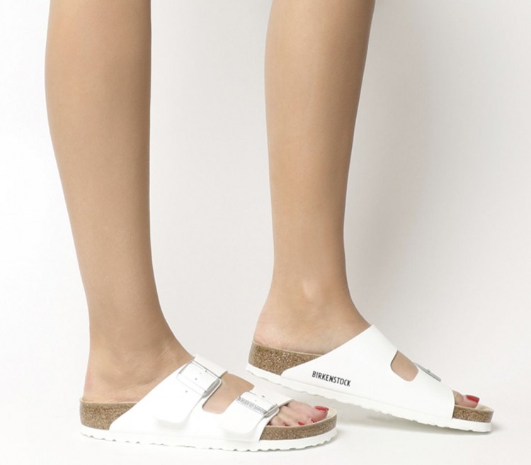 white arizona birkenstocks on sale!