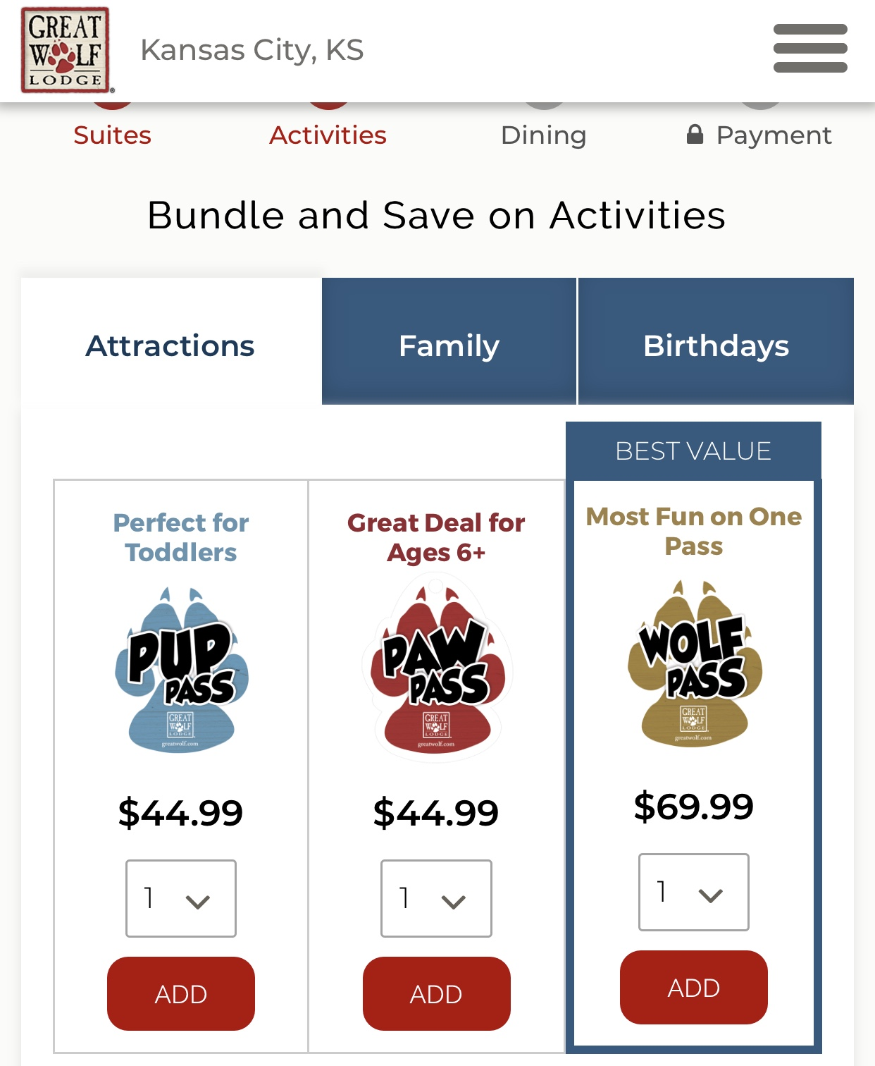 bundle savings at Great Wolf Lodge Kansas City