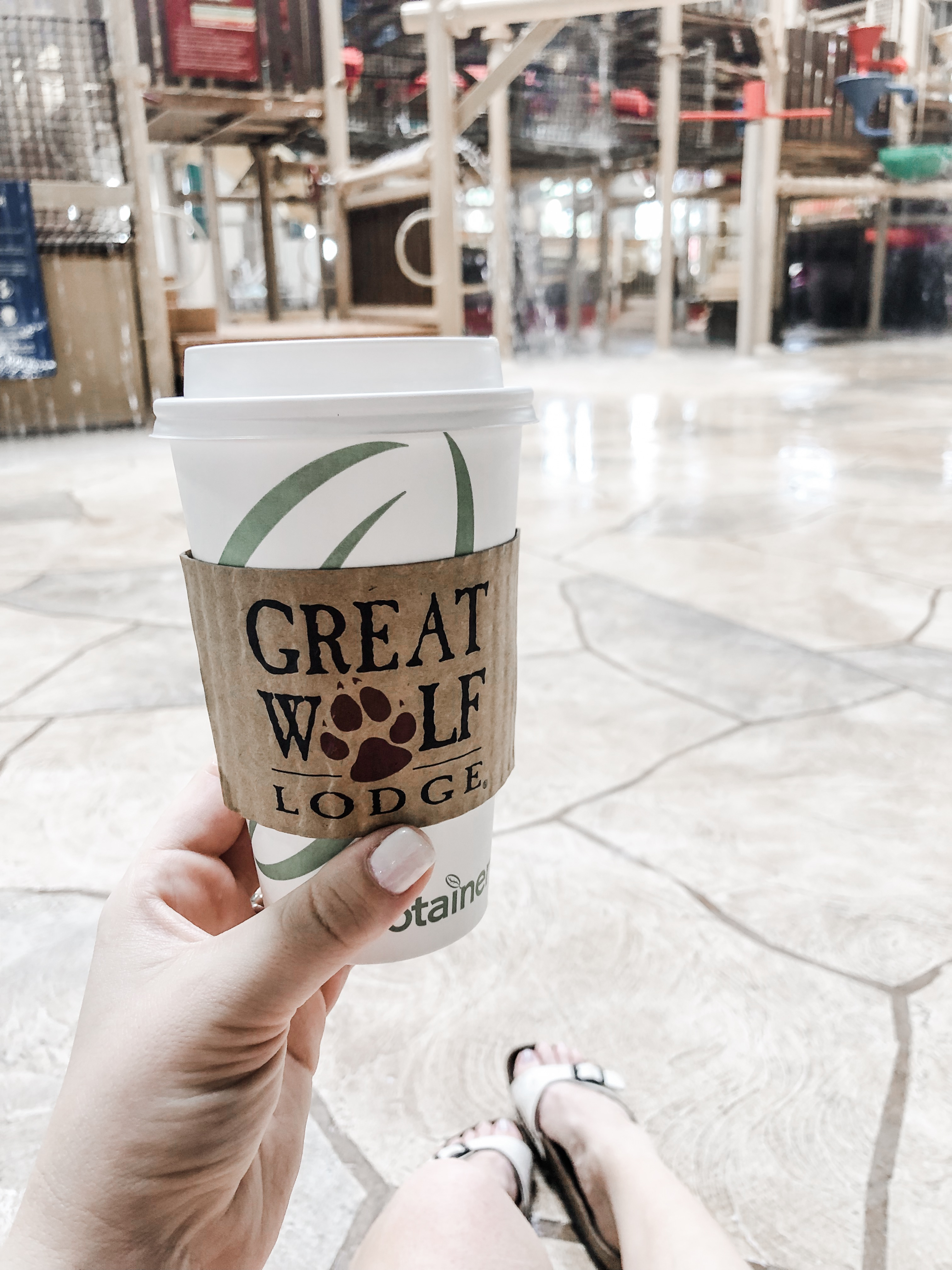 coffee at Great Wolf Lodge Kansas City