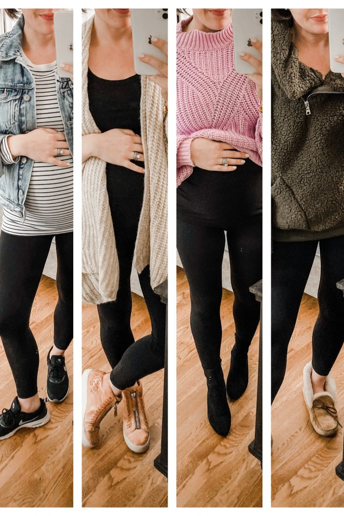 Black Leggings 4 Ways: Maternity Outfit Ideas for Fall