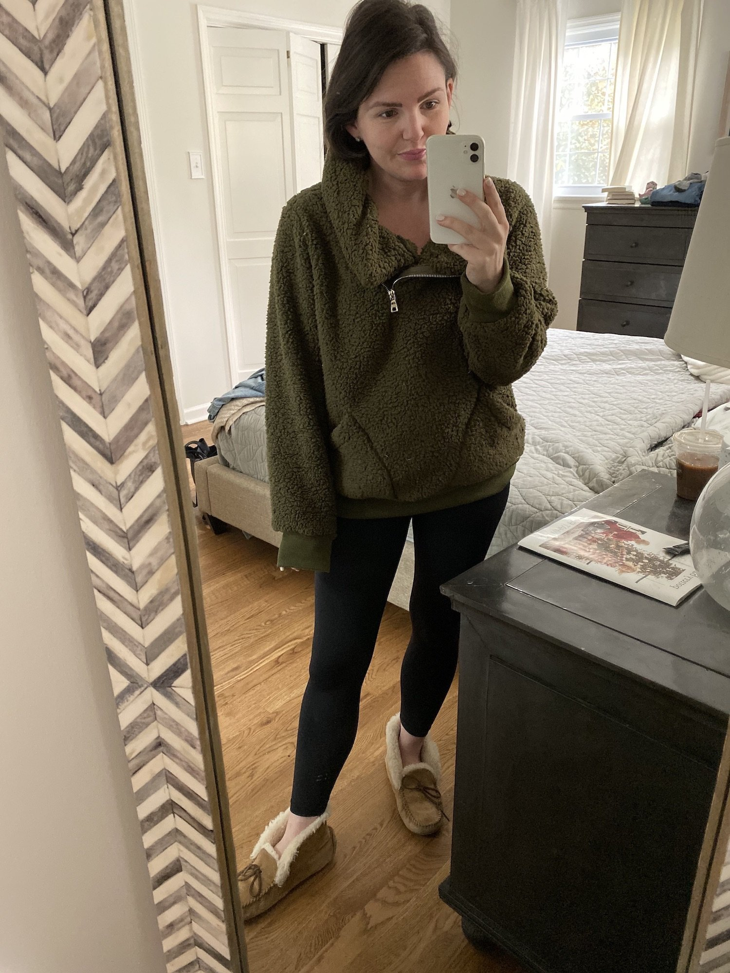 olive green sherpa from Amazon