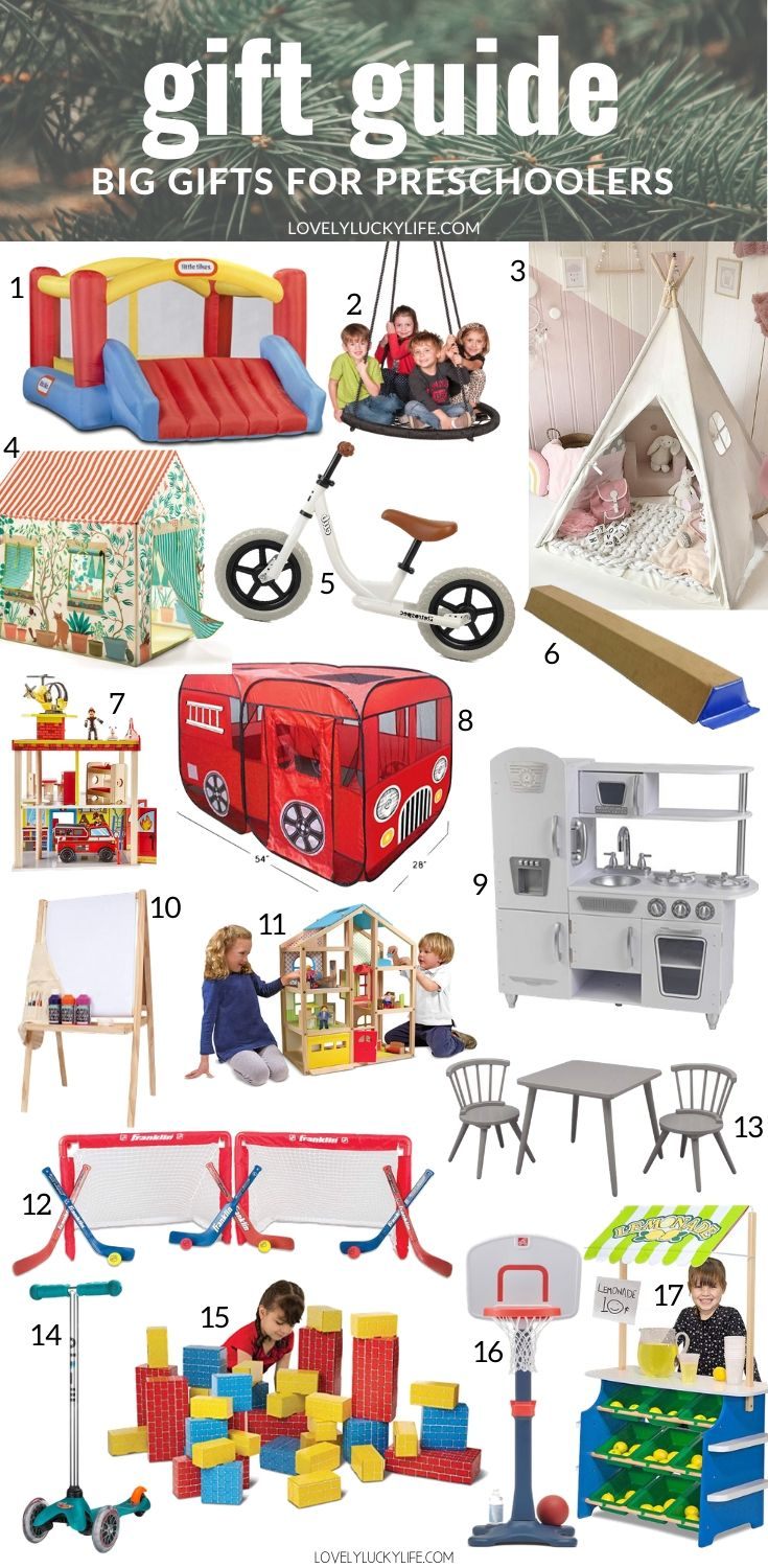 BIG Christmas gift ideas for preschools kids ages 3-6