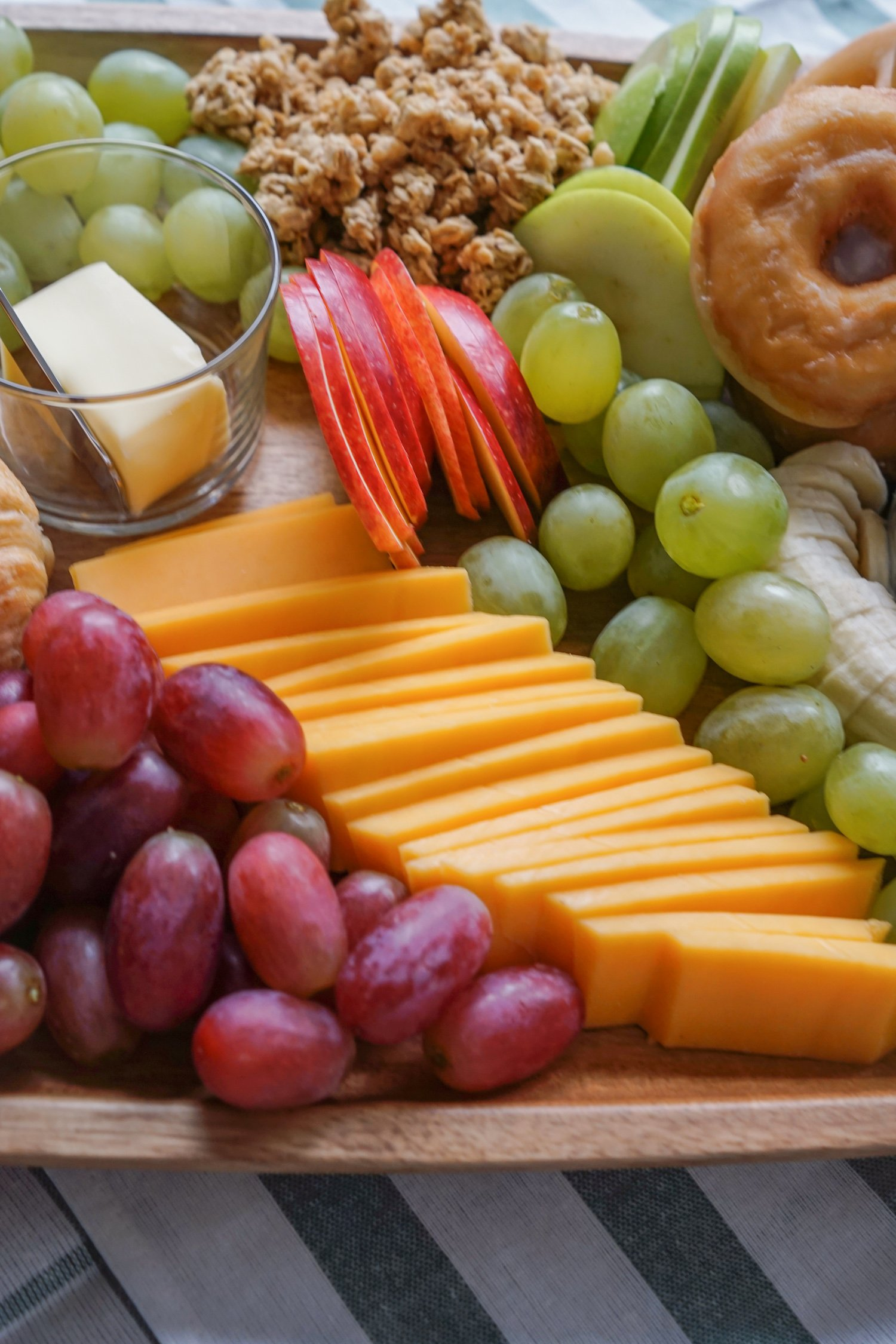 Breakfast Cheese Board - fill with pastries, cheese, fruit, etc.  So good!