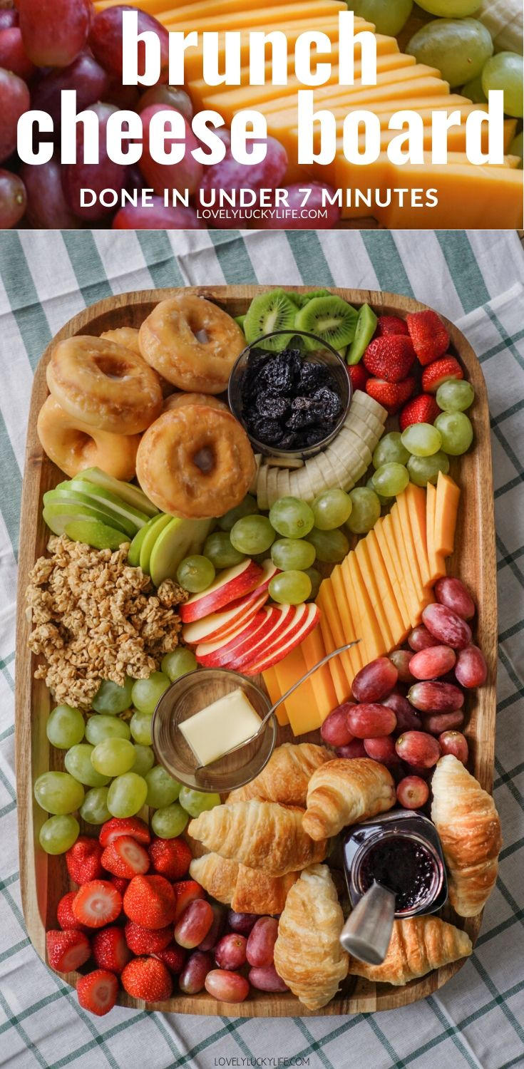 7 minute Brunch Cheese Board - Brunch Charcuterie Board