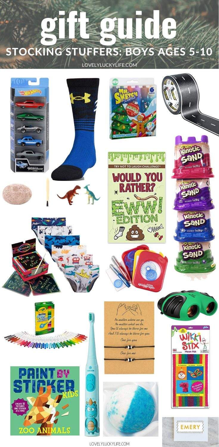 stocking stuffer gift guide for boys ages 5-10