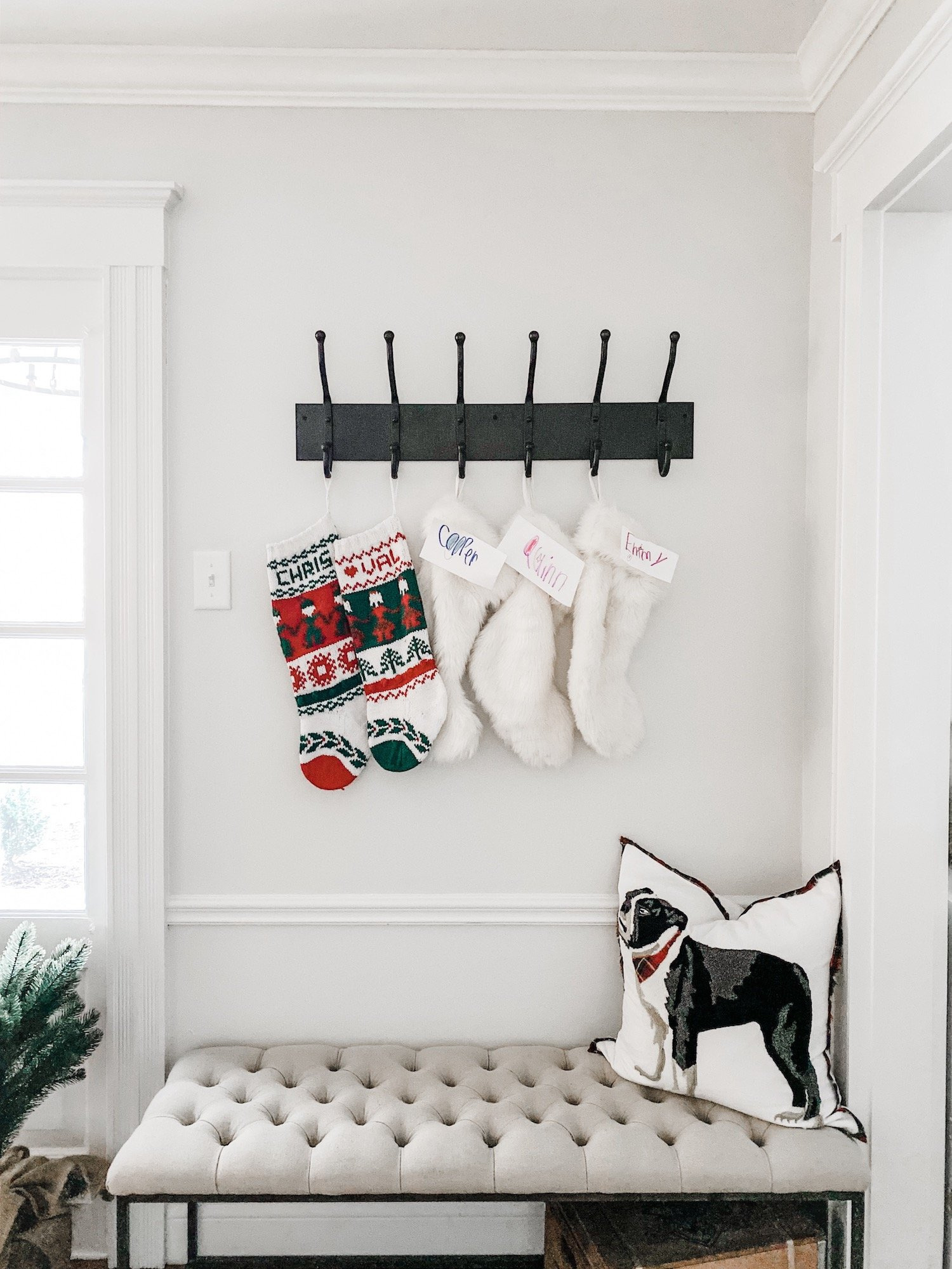 Stocking hung in our entryway