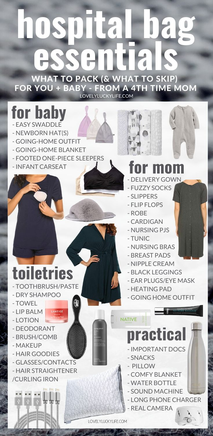 hospital bag checklist for mom and baby