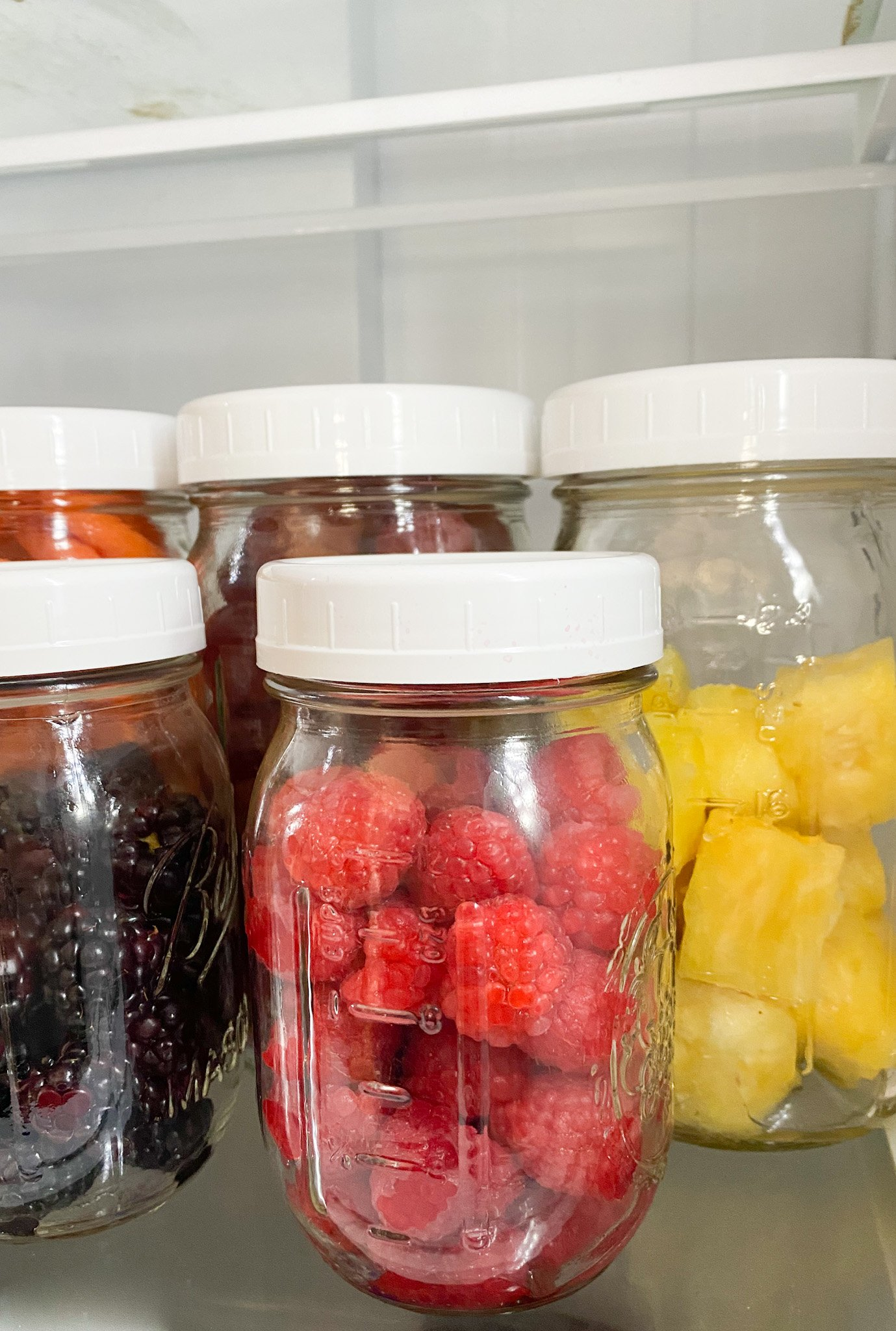 fruit storage in mason jars