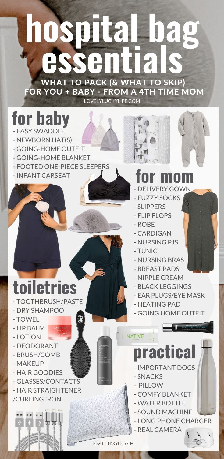 hospital bag checklist for delivery - the stuff you REALLY need in your hospital bag