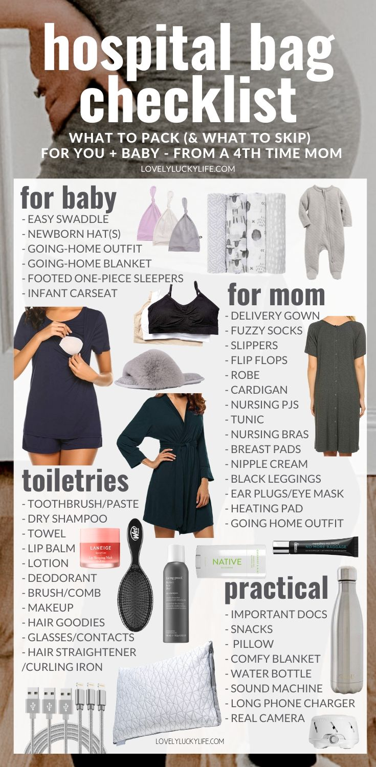 hospital bag checklist for delivery