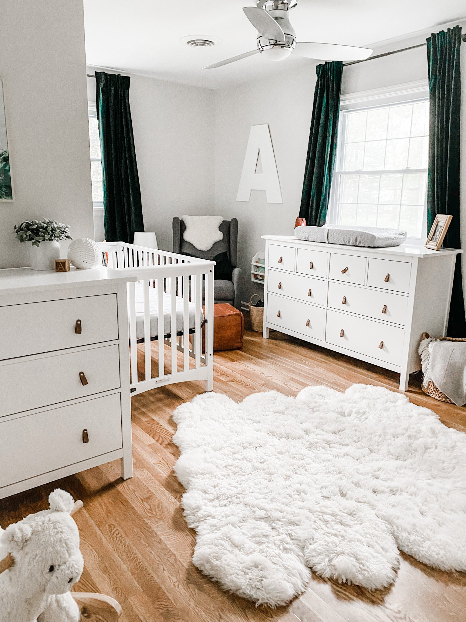 Auggie's Gender Neutral Green Nursery Reveal