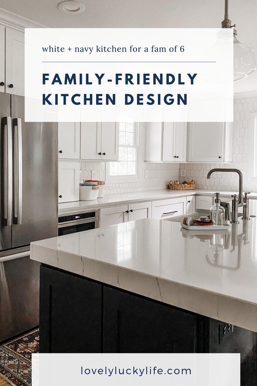 white family-friendly kitchen design tips