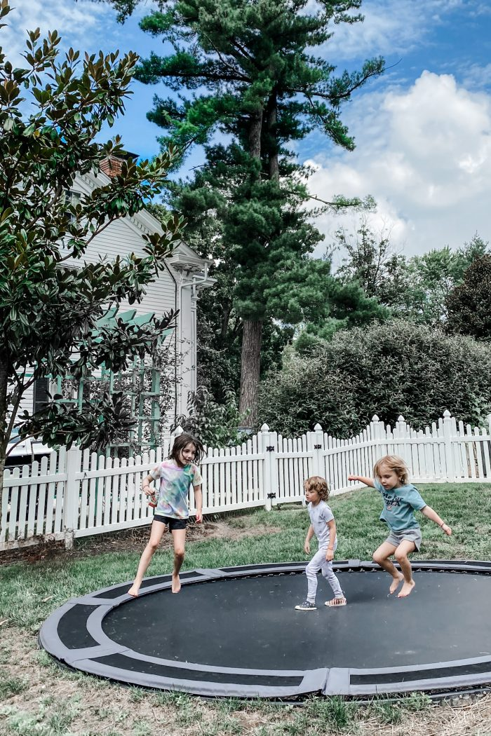 All the Details on Our In-Ground Trampoline