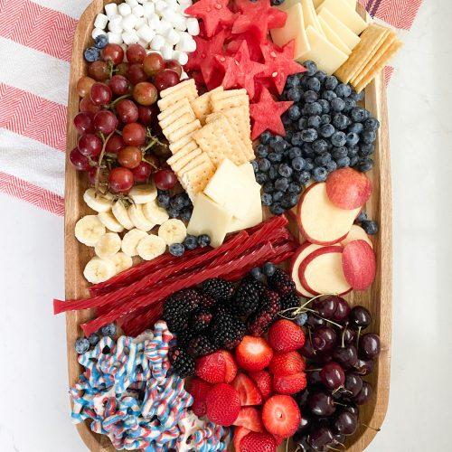 patriotic snack board
