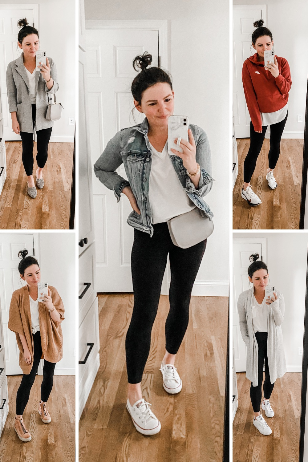 How to Wear a White T-Shirt 5 Ways: Mom Edition