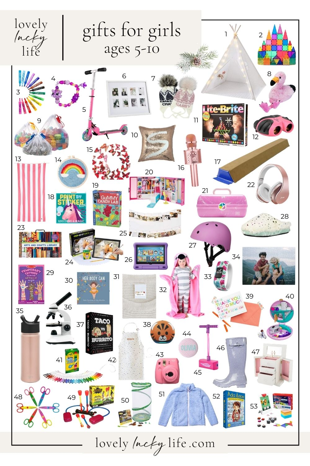 75 Christmas Gift Ideas Stocking Stuffers For Girls Lovely Lucky Life