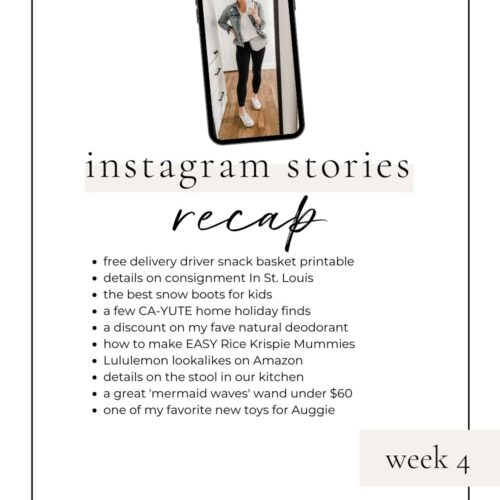 lovelyluckylife.com instagram recap week 4