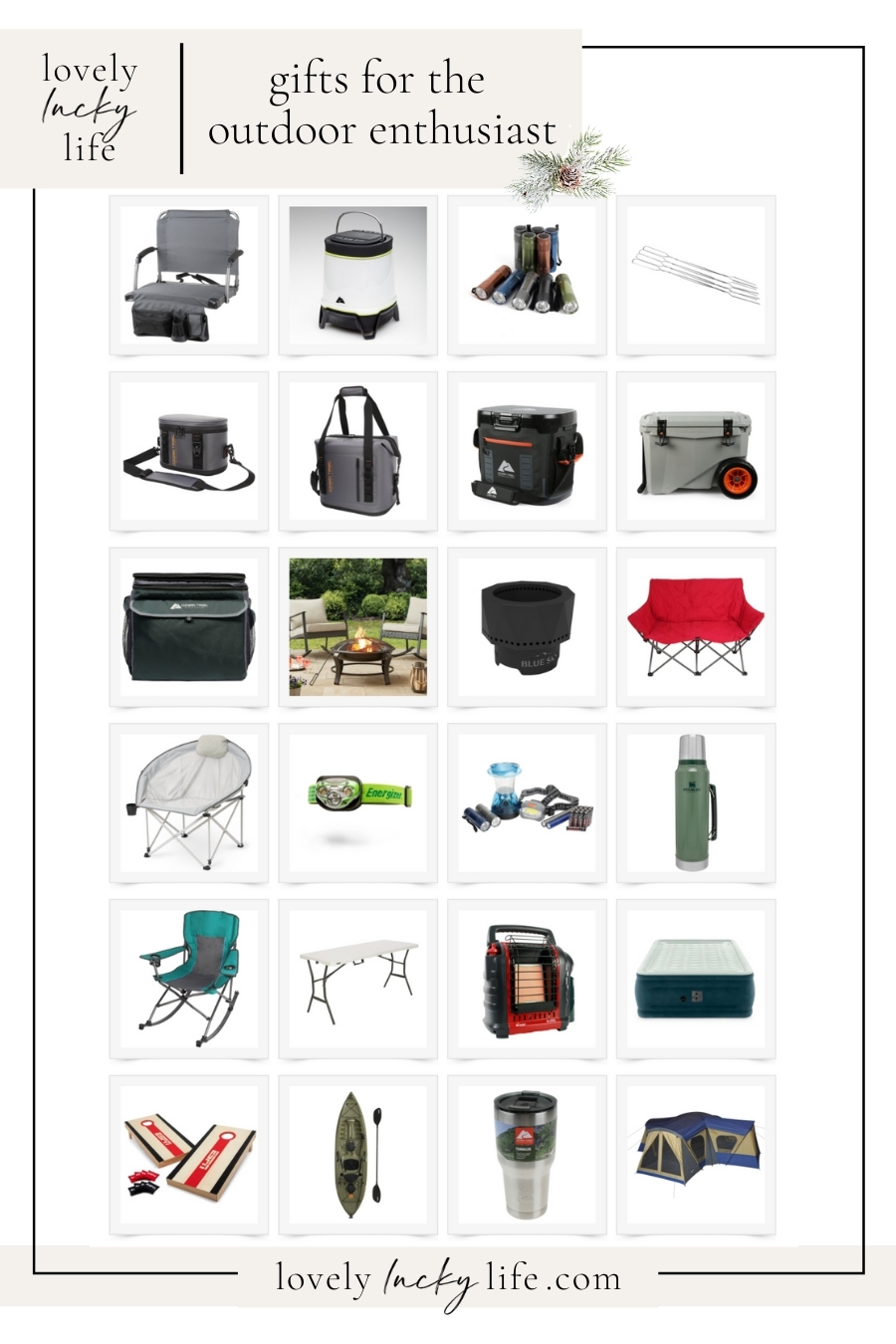 great gift ideas for campers on this list! tons of affordable outdoor gifts