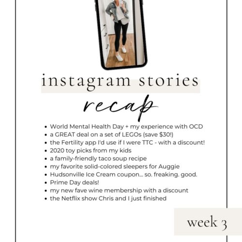 lovely lucky life instagram stories recap week 3