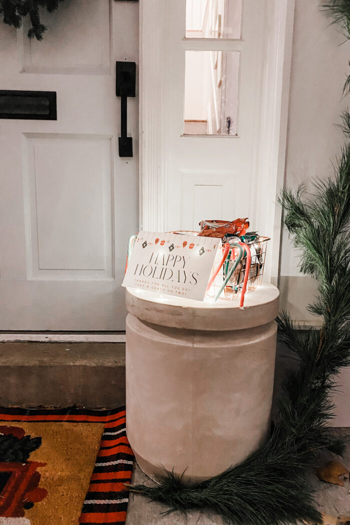 Delivery Driver Snack Basket Printable