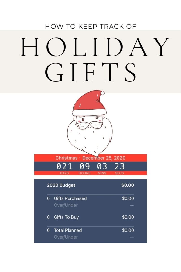 how to keep track of holiday gifts