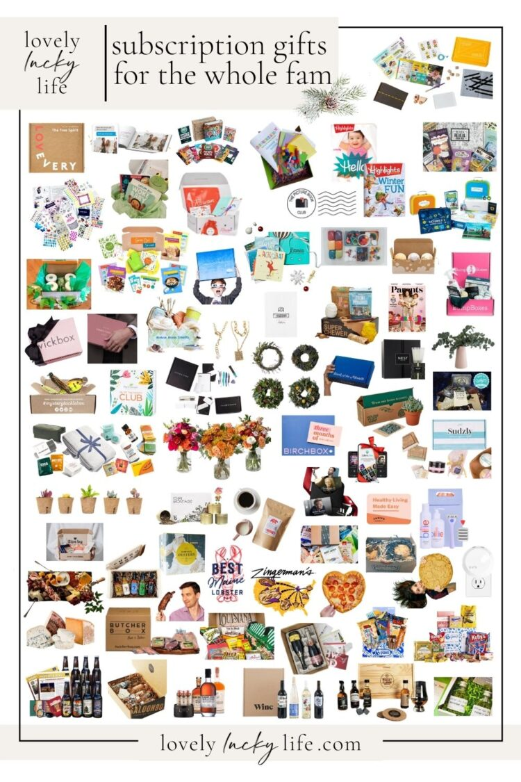 subscription Gift Guides