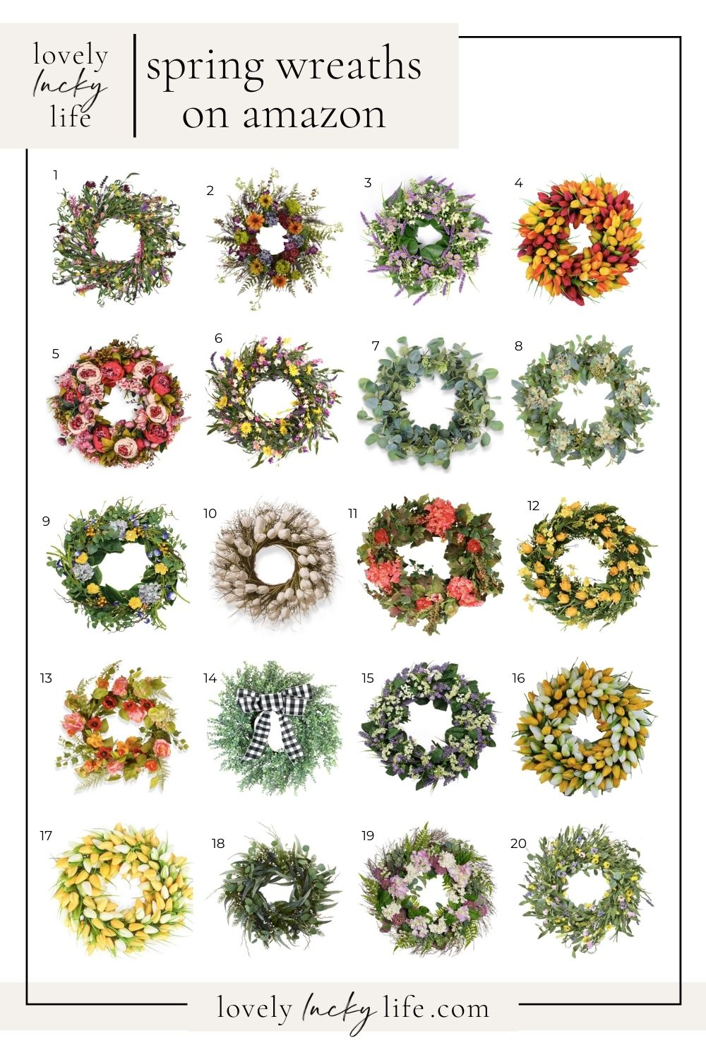 spring wreaths from amazon