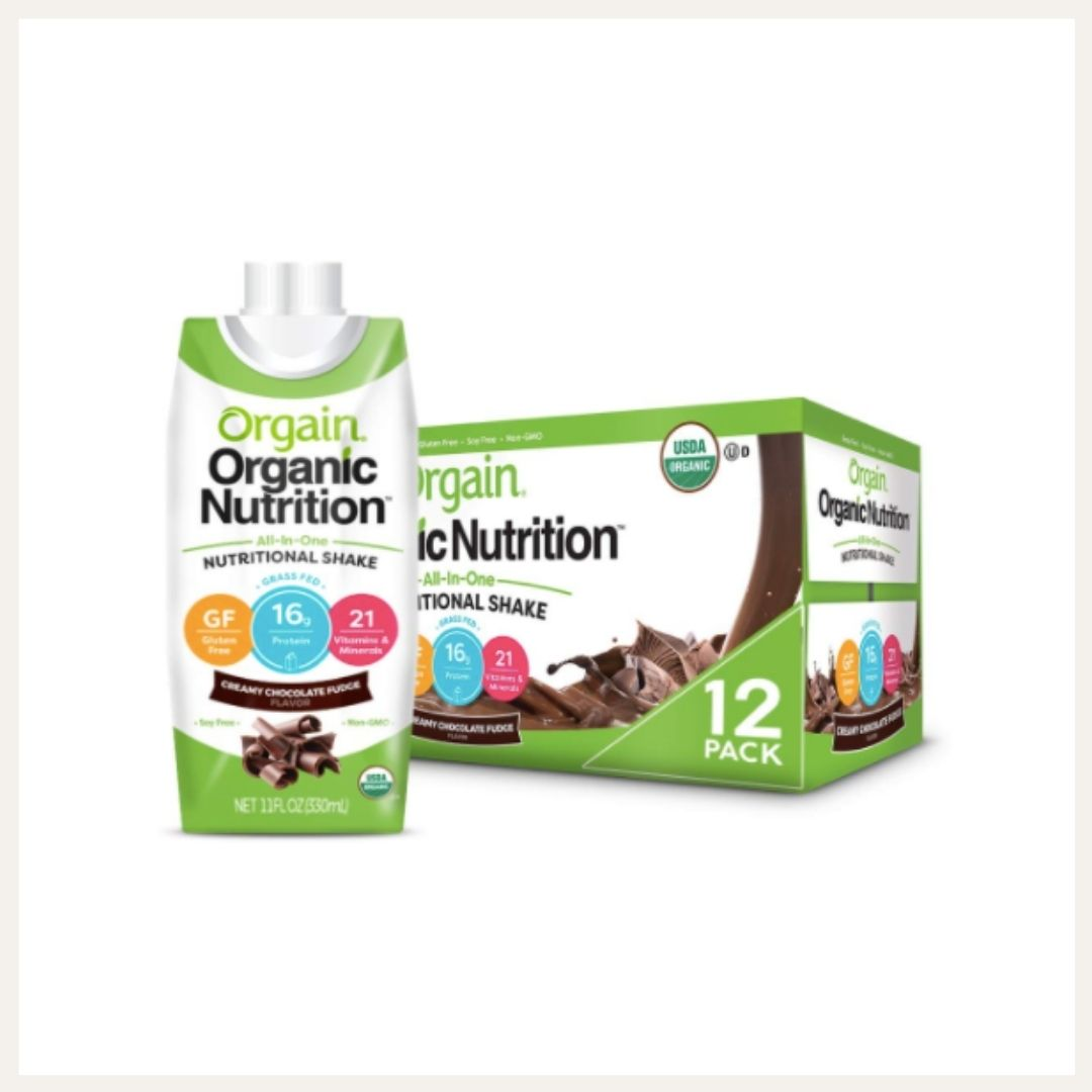 orgain organic nutrition chocolate protein shakes | currently drinking on lovelyluckylife.com