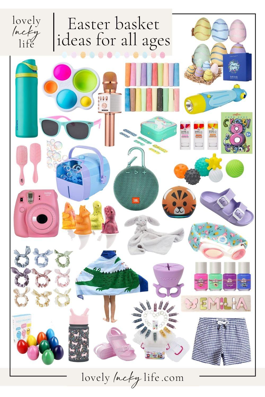 easter basket ideas teenager to infant - easter basket filler collage