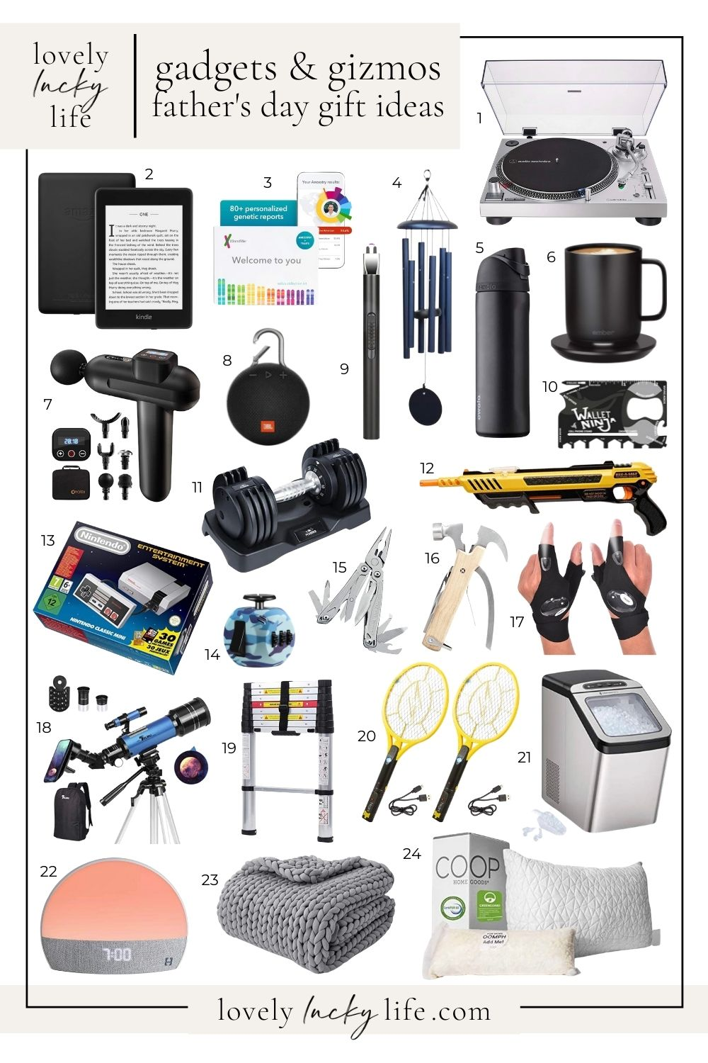 Gadgets & Gizmos Gift Ideas for Father's Day on LovelyLuckyLife.com