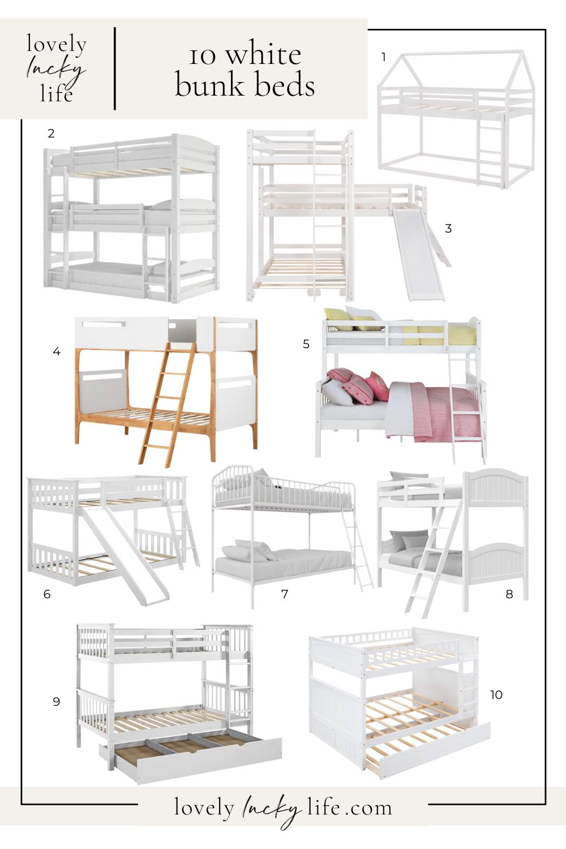10 White Bunk Beds found on LovelyLuckyLife.com