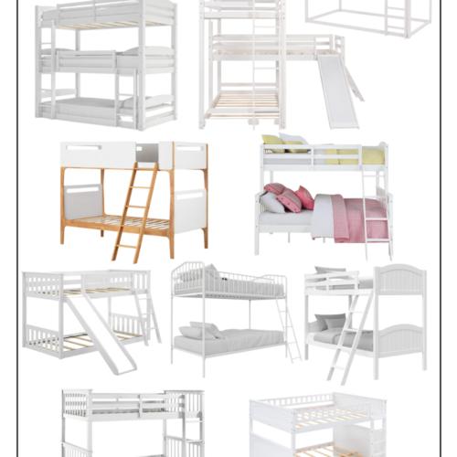 10 white bunks beds on LovelyLuckyLife.com