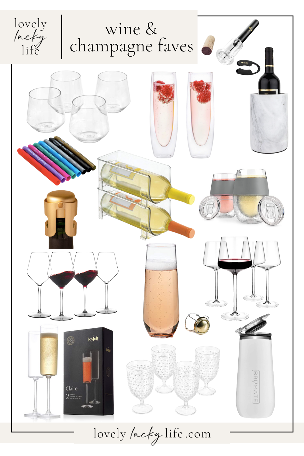 Wine and Champagne Faves on LovelyLuckyLife.com